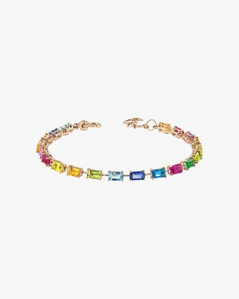 Shay Jewelry Rainbow Tennis Bracelet 1