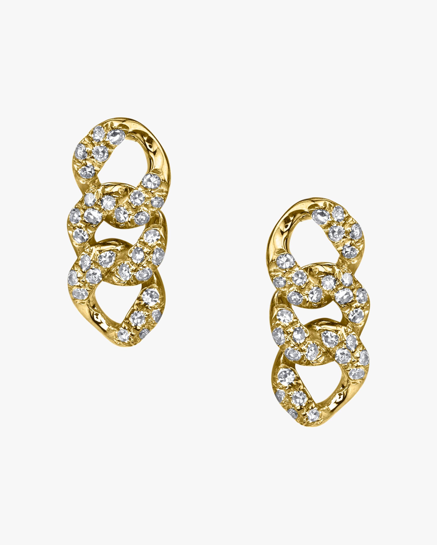 Shay Jewelry Pavé Link Stud Earrings 0