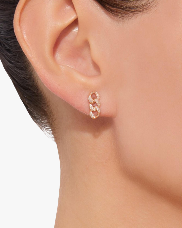 Shay Jewelry Pavé Link Stud Earrings 1