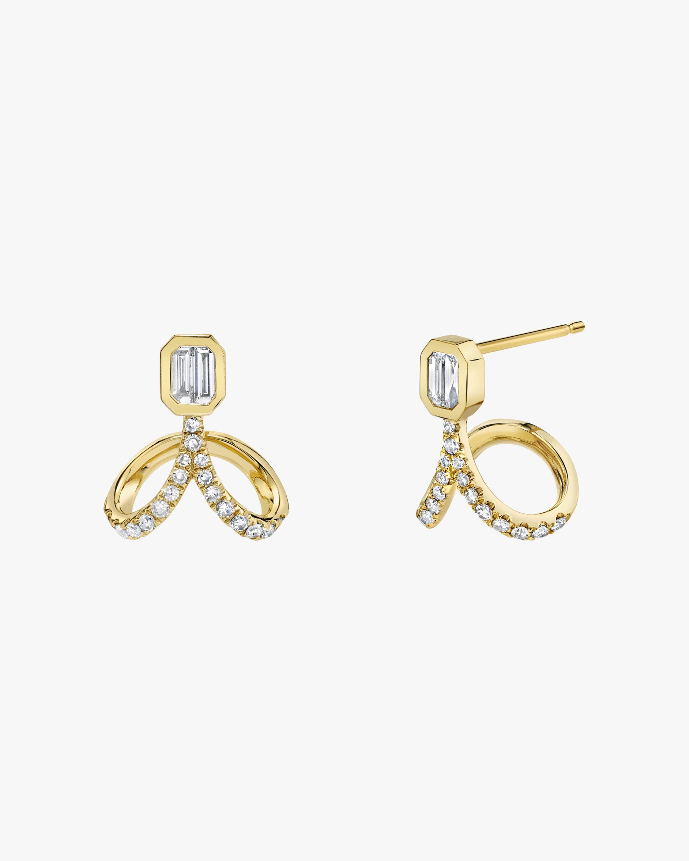 Shay Jewelry Upside Down Diamond Stud Earrings 2