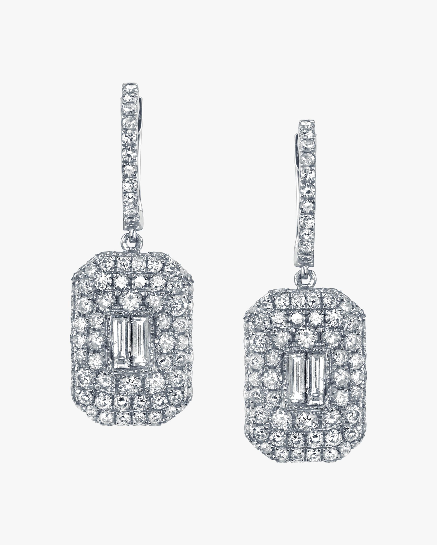 Shay Jewelry Pavé Diamond Baguette Drop Earrings 1