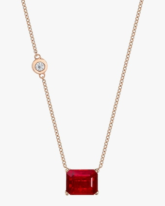 Shay Jewelry Ruby Pendant Necklace 2