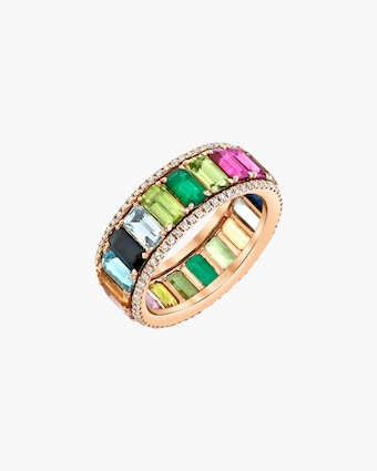 Shay Jewelry Pavé Rainbow Eternity Band 2