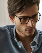 Baxter Blue Clark Square Blue Light Eyeglasses 5