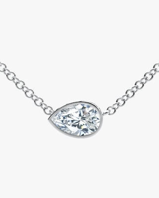 De Beers Forevermark The Forevermark Tribute™Collection Pear Diamond Necklace 1