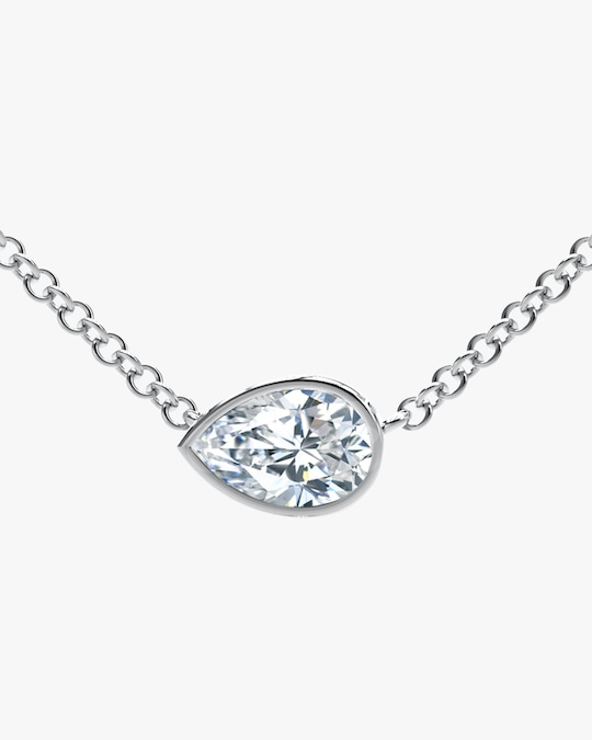 Forevermark The Forevermark Tribute™ Collection Pear Diamond Necklace 0