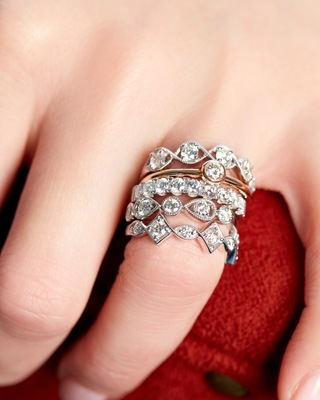 De Beers Forevermark The Forevermark Tribute™ Collection Braided Five Stone Ring 2