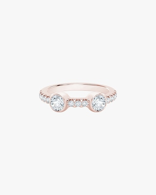 De Beers Forevermark The Forevermark Tribute™ Collection Two Stone Diamond Ring 1