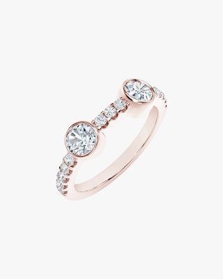 De Beers Forevermark The Forevermark Tribute™ Collection Two Stone Diamond Ring 2