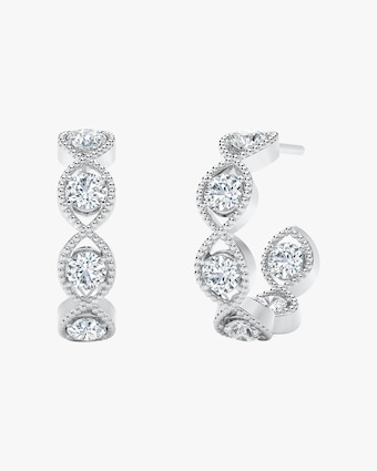 Forevermark The Forevermark Tribute™ Collection Braided Hoop Earrings 1