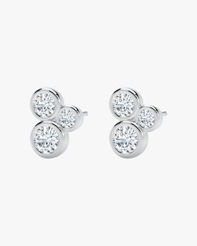 The Forevermark Tribute™ Collection Three-Stone Earrings