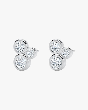 Forevermark The Forevermark Tribute™ Collection Three-Stone Earrings 1