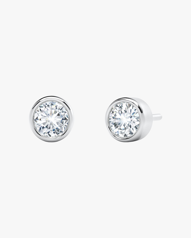 De Beers Forevermark The Forevermark Tribute™Collection Bezel Stud Earrings 2