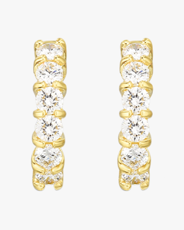 Roberto Coin Diamond Single- Line Hoop Earrings 1