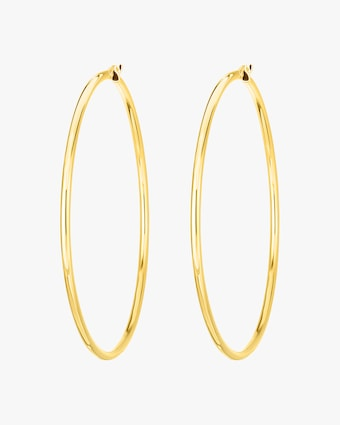 Roberto Coin Yellow Gold Hoop Earrings 1