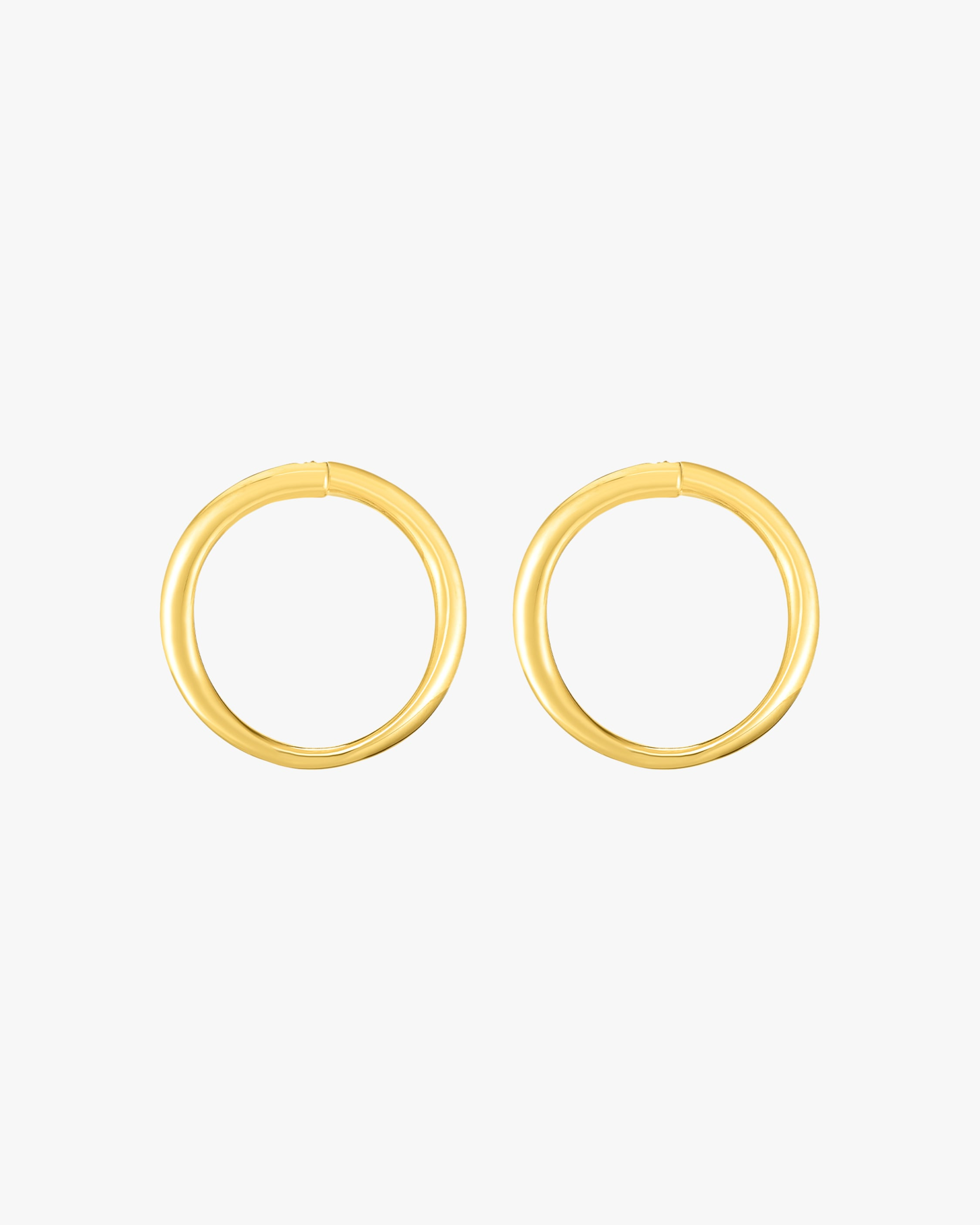 Roberto Coin Oro Curved Front-Face Hoop Earrings 2