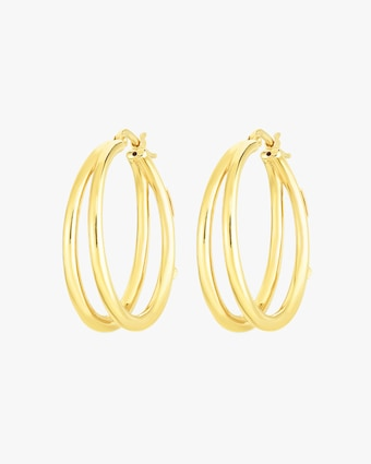 Roberto Coin Oro Classic Double Hoop Earrings 1