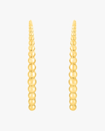 Roberto Coin Oro Classic Beaded Hoop Earrings 2