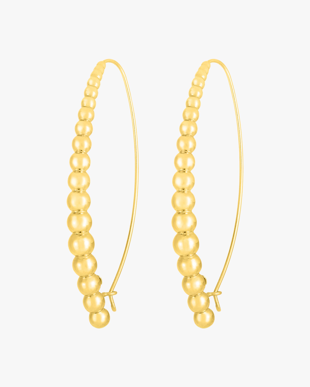 Oro Classic Beaded Hoop Earrings
