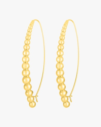 Roberto Coin Oro Classic Beaded Hoop Earrings 1