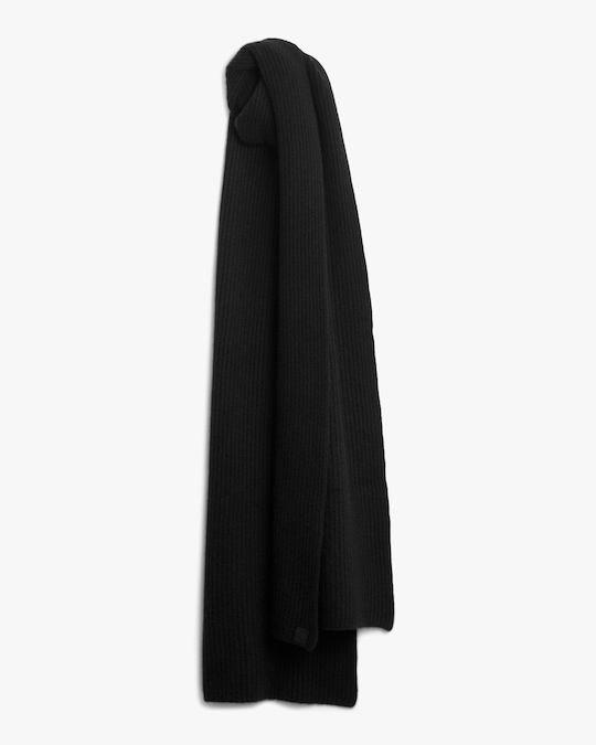 rag & bone Black Ace Cashmere Scarf 0