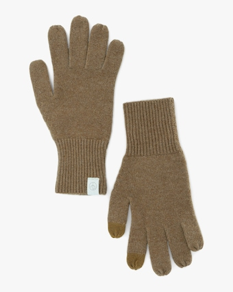 rag & bone Camel Ace Cashmere Gloves 1