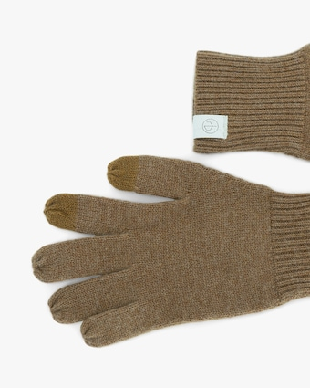 rag & bone Camel Ace Cashmere Gloves 2