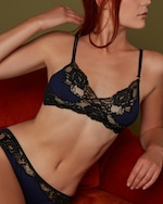 Noelle Wolf Lissom Lace Triangle Bra 1