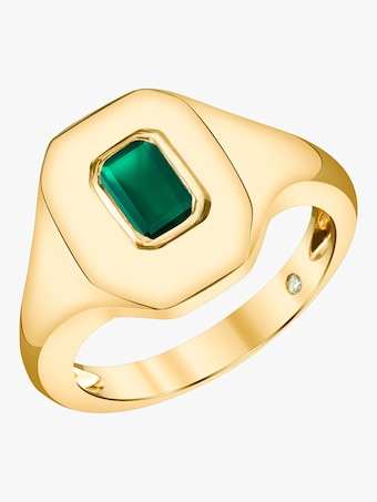 Shay Jewelry Emerald Baguette Essential Ring 2