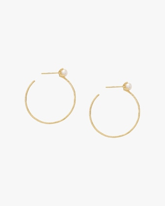 Penelope Jewelry Freshwater Pearl Hoop Earrings 1