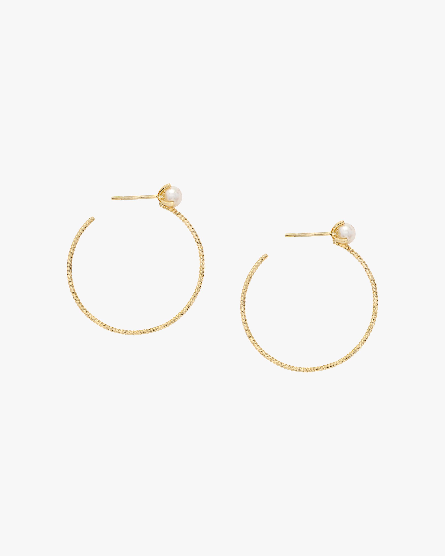 Penelope Jewelry Freshwater Pearl Hoop Earrings 1