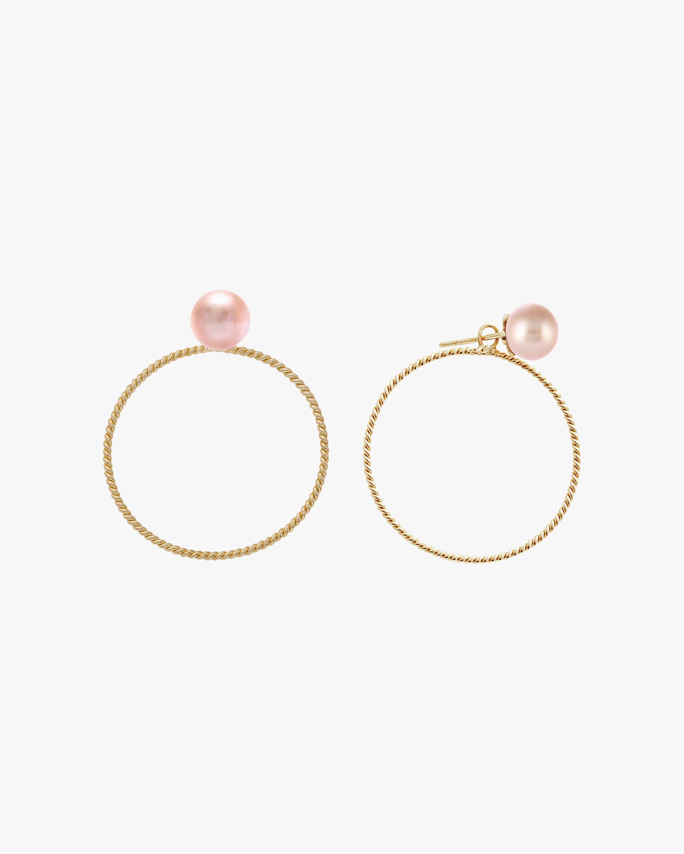 Penelope Jewelry Pink Freshwater Pearl Hoop Earrings 1