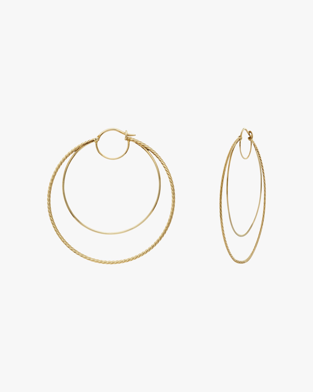 Penelope Jewelry Filigree Double Hoop Earrings 1