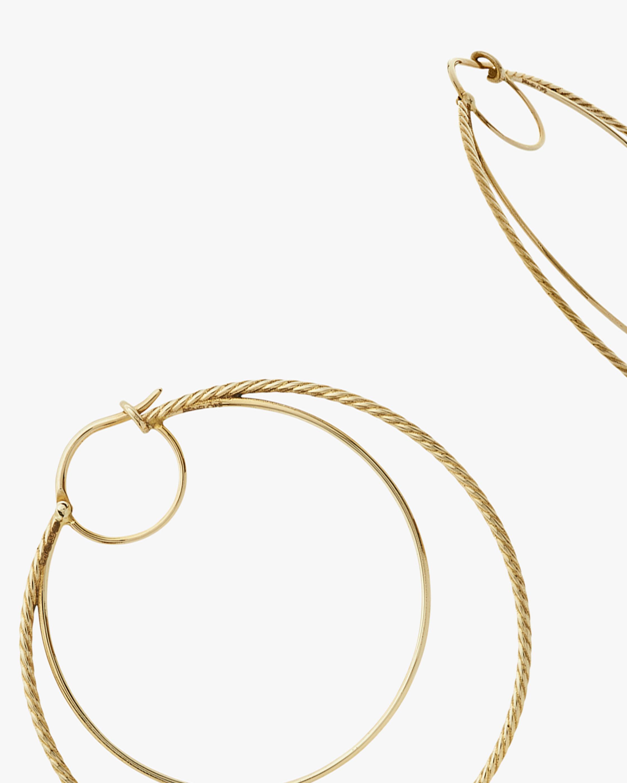 Penelope Jewelry Filigree Double Hoop Earrings 2