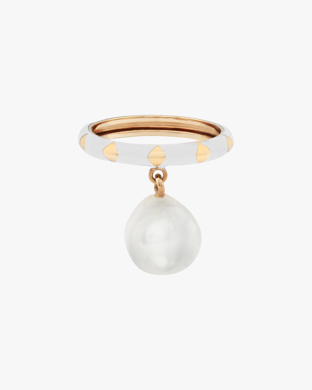 Penelope Jewelry Freshwater Pearl & Enamel Ring 1