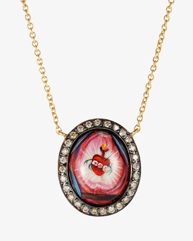 Penelope Jewelry Diamond Heart Pendant Necklace 1
