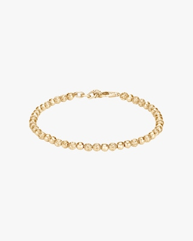 John Hardy Classic Chain Hammered 18K Gold Bead Bracelet 1