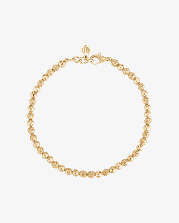 John Hardy Classic Chain Hammered 18K Gold Bead Bracelet 2