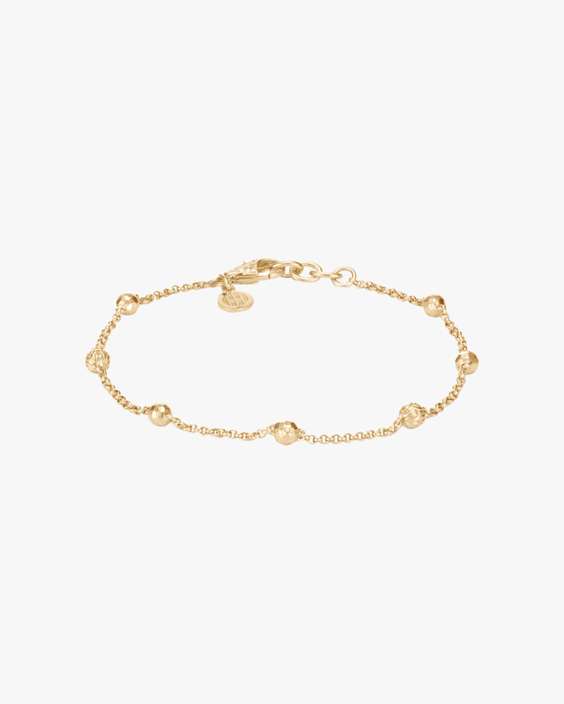 Classic Chain 18K Gold Bead Bracelet