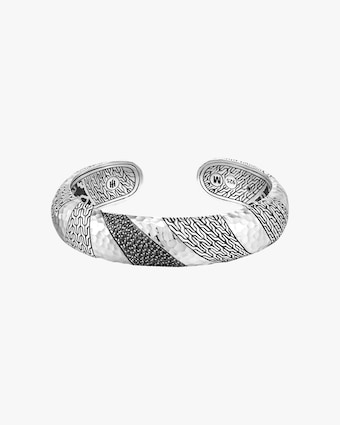 John Hardy Classic Chain Hammered Medium Kick Cuff 1