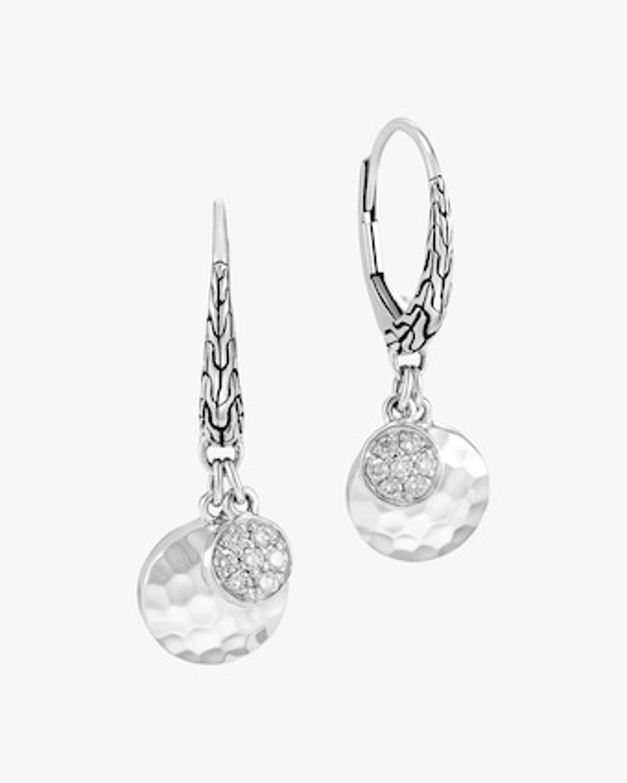 John Hardy Dot Hammered Pavé Diamond Earrings 1