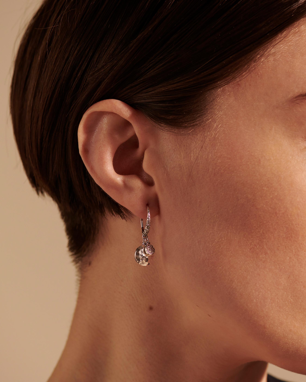 John Hardy Dot Hammered Pavé Diamond Earrings 2