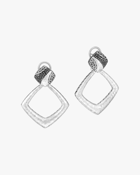John Hardy Classic Chain Convertible Door-Knocker Drop Earrings 0