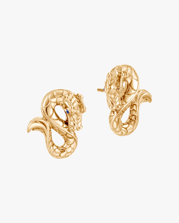 John Hardy Legends Naga 18K Gold Stud Earrings 1