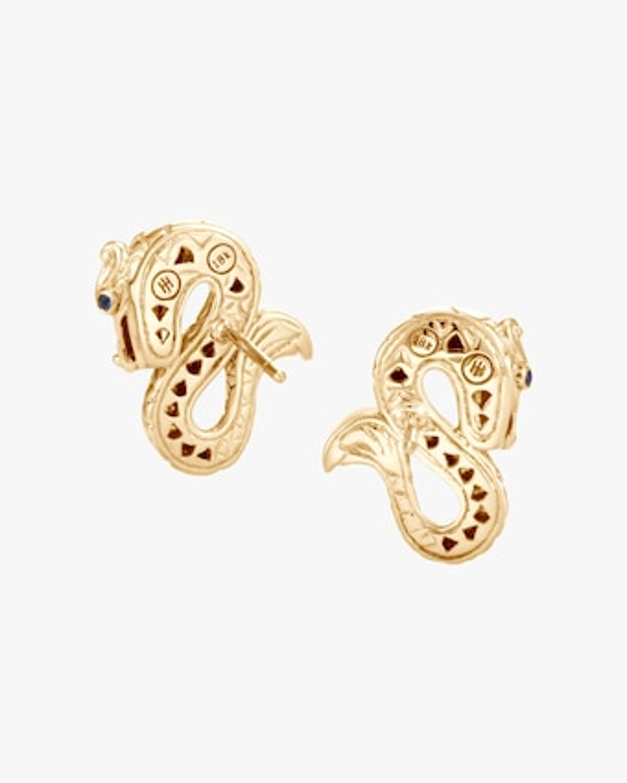 John Hardy Legends Naga 18K Gold Stud Earrings 2