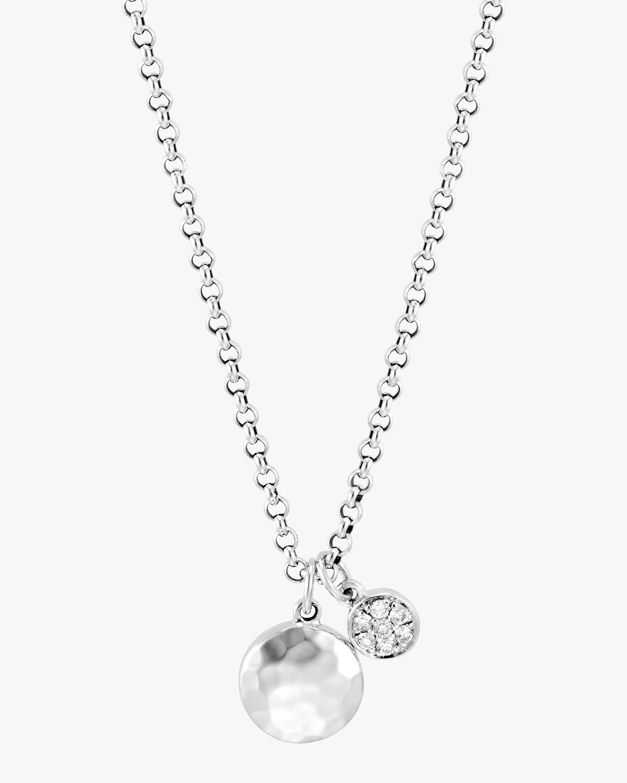 John Hardy Dot Hammered Silver Pavé Diamond Pendant Necklace 2