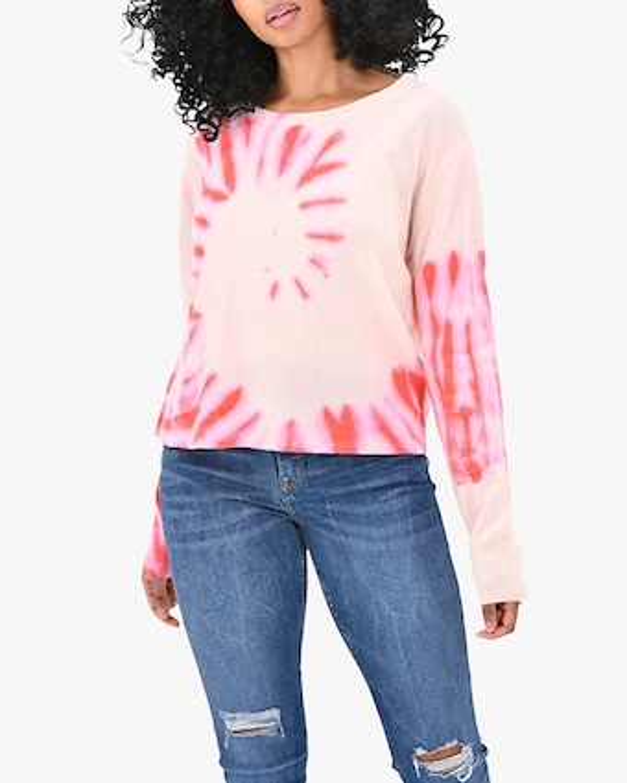Brodie Cashmere Tie Dye Cashmere Sweater 1