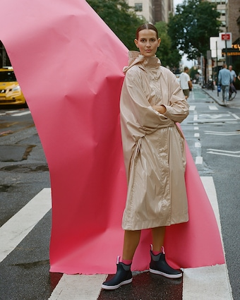 Michelle Waugh Stephanie Dolman-Sleeve Raincoat 2