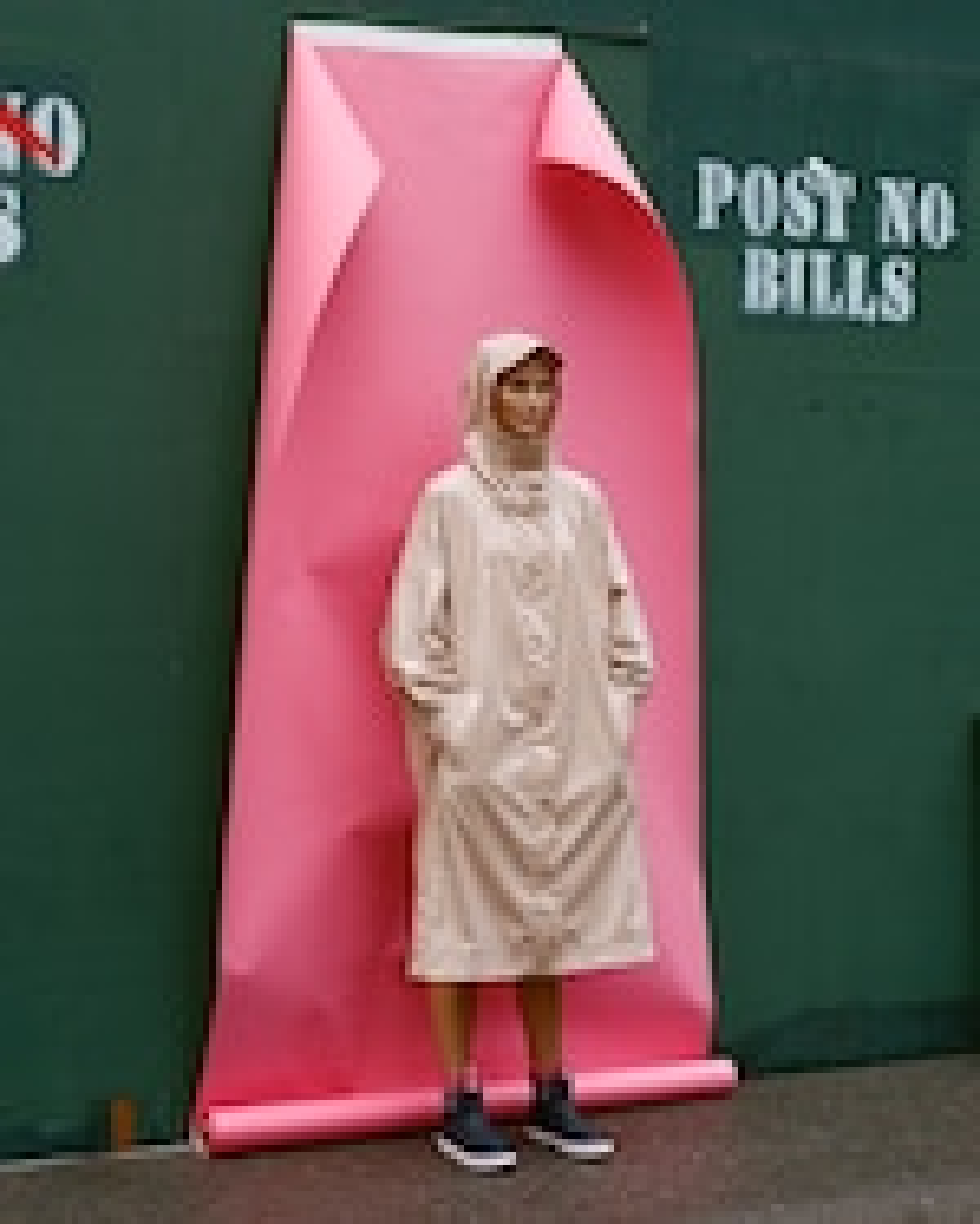 Michelle Waugh Stephanie Dolman-Sleeve Raincoat 2