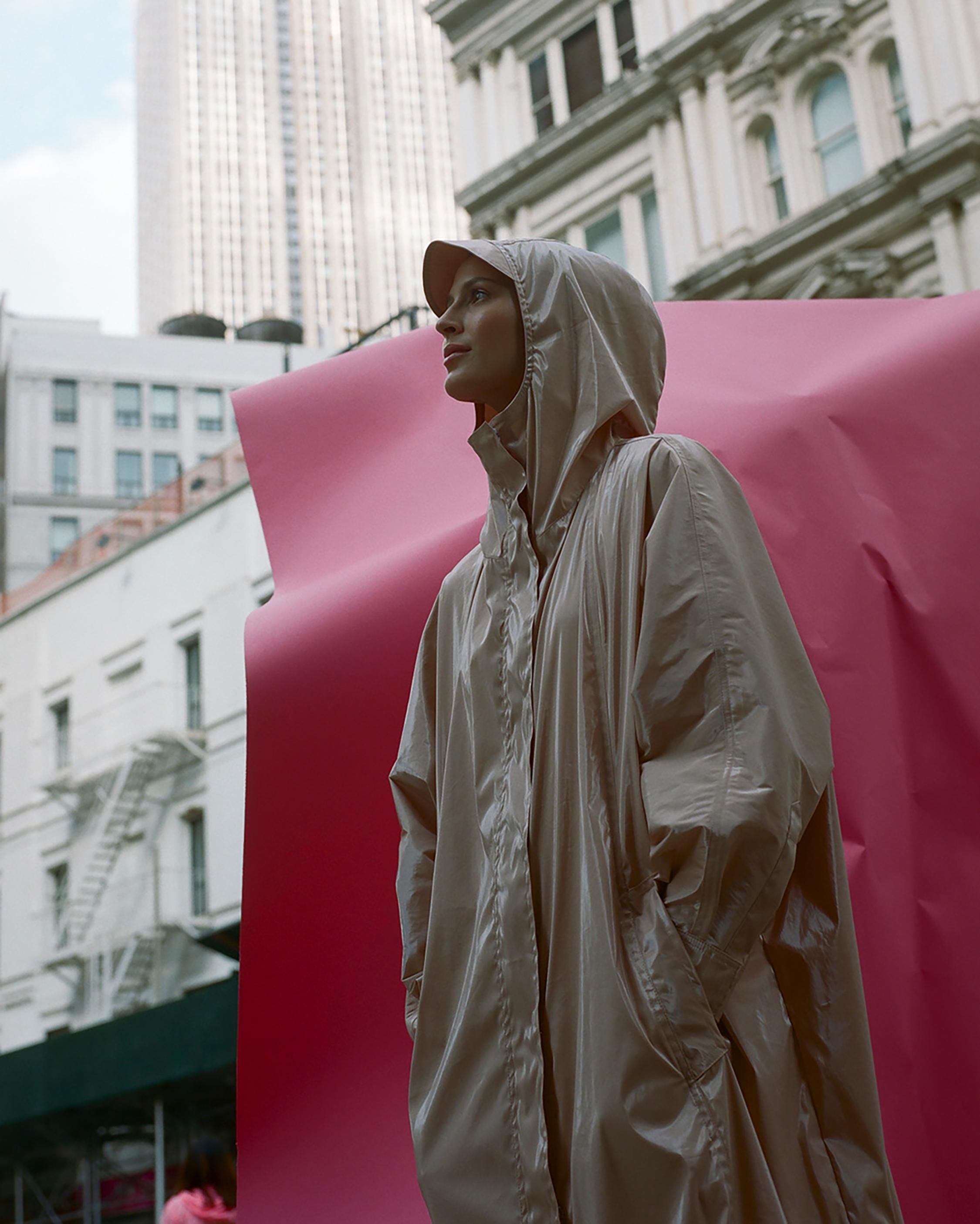 Michelle Waugh Stephanie Dolman-Sleeve Raincoat 3